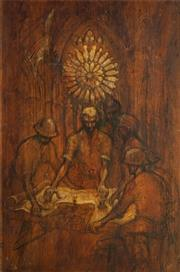 Sale 8544 - Lot 2010 - H. Gore - The Strategy (Australian and New Zealand Army Corps) 105 x 69.5cm