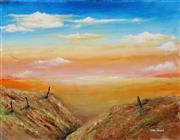 Sale 8657A - Lot 5011 - Greg Lipman (1938 - ) - The Featureless Desert 76 x 102cm