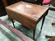 Sale 8666 - Lot 1053 - Regency Mahogany Pembroke Table, fitted with a drawer & on turned legs (Key in Office)