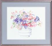 Sale 8855H - Lot 324 - Kitty Hammerman, Floral Study, watercolour on paper, 32 x 38cm, SLR and dated 1990