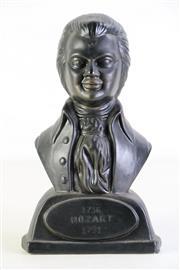 Sale 8994 - Lot 39 - Composite Figure Of Mozart H:24cm Together With A Lidded Urn