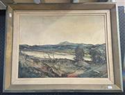 Sale 9004 - Lot 2041 - Frank de Silva - Along the Bremer, board, SLL