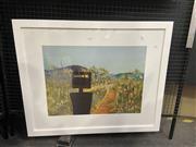 Sale 9072 - Lot 2034 - Sidney Nolan Ned Kelly Series, decorative print, frame: 74 x 90 cm -