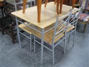 Sale 7943A - Lot 1540 - Modern Four Piece Kitchen Suite Incl Table And Four Chairs