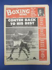 Sale 8450S - Lot 758 - Boxing News - a box of the UK Boxing News, 1977-1980, lots of Ali