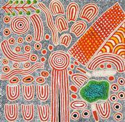 Sale 8696 - Lot 579 - Narpula Scobie Napurrula (1950 - ) - Womens Dreaming, 2011 92 x 94cm