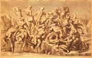 Sale 8666A - Lot 5063 - Luigi Schiavonetti (1765 - 1810) - Battle of Cascina, 1808 (after Michelangelo) 23 x 37cm