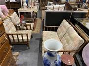 Sale 8876 - Lot 1059 - Cane Three Piece Suite incl. Two Armchairs & Two Seater