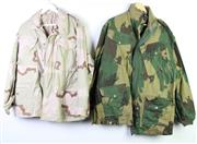 Sale 8952M - Lot 638 - A Set Of Three Army Camouflage Jackets Incl Desert Storm