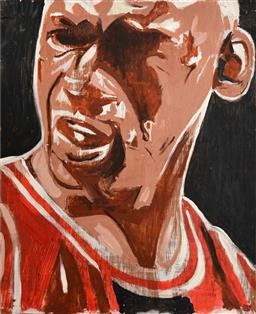 Sale 9110 - Lot 23 - INDO (1982 - ) - Michael Jordan 59cm x 71cm