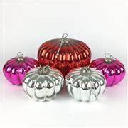 Sale 8607R - Lot 92 - Set of Five Glass Christmas Baubles (W: 20cm)