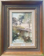 Sale 8595 - Lot 2037 - Bruce Malloch - Peaceful Creek, Mount Barker Area, Western Australia 25 x 16cm, (frame: 42.5 x 33.5cm)