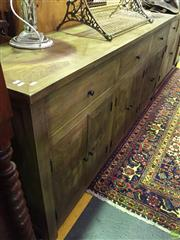 Sale 8648 - Lot 1091 - Recycled Elm Parquetry Sideboard (H:W:D:)