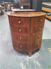 Sale 8648C - Lot 1001 - Georgian Style Mahogany Demi Lune Two Door Cabinet