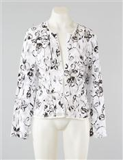 Sale 8740F - Lot 51 - A Joseph Ribkoff abstract floral appliqué mesh zip jacket, size 12