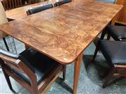 Sale 8723 - Lot 1090A - Paul Kafka Extension Dining Table with Butterfly Leaf