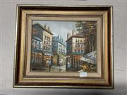 Sale 8981 - Lot 2090 - Henri Rogers Parisian Street Scene acrylic, signed lower left