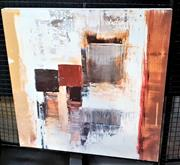 Sale 9061 - Lot 2029 - Artist Unknown - Lacquered Abstract Print On Board 69 x 69cm