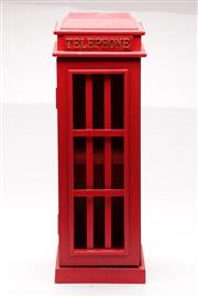 Sale 9070 - Lot 20 - Red English Phonebooth Form Cabinet H: 52cm