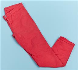 Sale 9091F - Lot 9 - A PAIR OF J BRAND JEANS; in faded red, size EUR 30