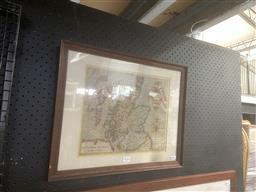 Sale 9101 - Lot 2036 - A 17th Century Map of Scotland
