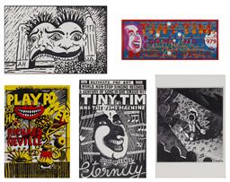 Sale 9157S - Lot 5024 - MARTIN SHARP (1942 - 2013) Postcards (12) Tiny Tim (4) Luna Park (4) Nimrod 10 (2) Tiny Tim, 1979 (1) Play Power:Richard (1) various...