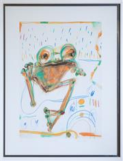 Sale 8346A - Lot 223 - John Olsen (1928 - ) - Waiting 60 x 42.5cm