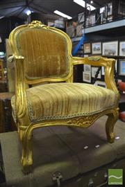 Sale 8386 - Lot 1073 - Pair of Gilded Childrens Armchairs