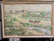 Sale 8417T - Lot 2100 - Artist Unknown - Rural Village, acrylic on board, 58 x 90cm, signed Fent lower right