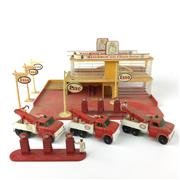 Sale 8559A - Lot 19 - Vintage Matchbox Esso Service Station, with extra pumps and service vehicles, unboxed