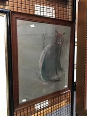 Sale 8754 - Lot 2018 - Artist Unknown - La Chat 50.5 x 42.5cm