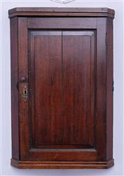 Sale 8891H - Lot 19 - A late C18th oak corner cabinet, Height 84cm