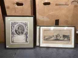 Sale 9103 - Lot 2060 - Group of Assorted 18th Century Engravings of English Town Scenes & Italian Aristocrats -