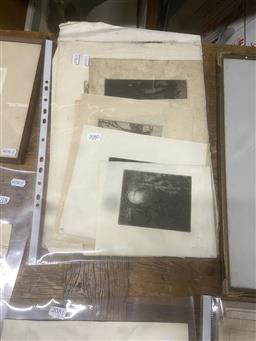 Sale 9111 - Lot 2080 - an interesting selection of etchings by Squire Morgan including nocturnal scenes. the Art Gallery of NSW, Koala, Country and Street...