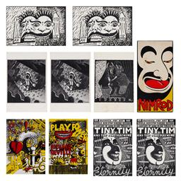 Sale 9157S - Lot 5025 - MARTIN SHARP (1942 - 2013) Postcards (10) Tiny Tim (2) Luna Park (2) Nimrod 10 (2) Mo (1) Play Power (1) Ha Ha! (1) Luna Park, 1981 ...