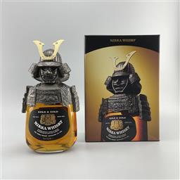 Sale 9165 - Lot 631 - Nikka Whisky Gold & Gold - Samurai Limited Edition Blended Japanese Whisky - novelty bottle in presentation box, 43% ABV, 750ml