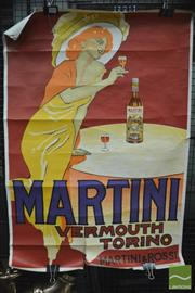 Sale 8364 - Lot 1031 - Vintage Vermouth Martini Poster