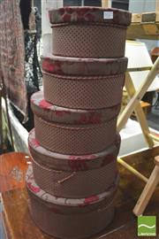 Sale 8392 - Lot 1037 - Two Sets of Five Graduating Hat Boxes