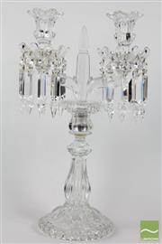 Sale 8516 - Lot 8 - Baccarat Crystal Candle Holder