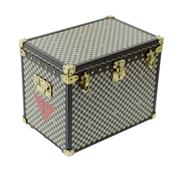 Sale 8522A - Lot 4 - A French Louis Vuitton miniature steamer trunk jewel box with original packing box, complete with inside trays etc, overall size: 10...