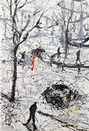 Sale 8642 - Lot 533 - Mark Hanham (1978 - ) - Winter Paddington Scene, 2004 166 x 111cm
