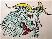 Sale 8657E - Lot 5021 - Adam Cullen (1965 - 2012) - Goat 57 x 77cm