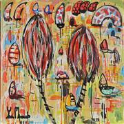 Sale 8826A - Lot 5022 - Yosi Messiah (1964 - ) - Three Palms 85 x 85cm