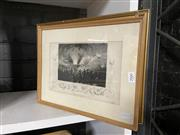 Sale 8932 - Lot 2066 - Group of (3) Engravings: Bridge over the River Nissa by Heath; Hammersmith Mall 1800  By W H Prior; Storming if Badajoz (conditio