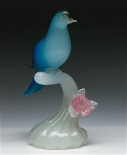 Sale 9144 - Lot 29 - A Murano art glass bird figure (H 23cm)