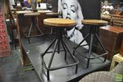 Sale 8341 - Lot 1034 - Set of Four Square Based Swivel Stools