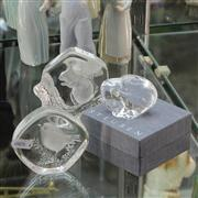 Sale 8379 - Lot 19 - Mats Jonasson Crystal Intaglio Paperweights with a Steuven Example