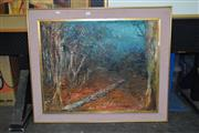 Sale 8422T - Lot 2032 - Lyn Aootay (XX)  Living Forest, Blue Mountains, oil on canvas board, 60 x 76cm, signed lower right
