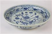 Sale 8432 - Lot 34 - Blue & White Lotus Dish