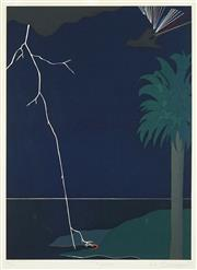 Sale 8491 - Lot 2060 - Jorgen Bechmann (active 1980s) - Thunder and Lightning, 1987 84 x 59.5cm
